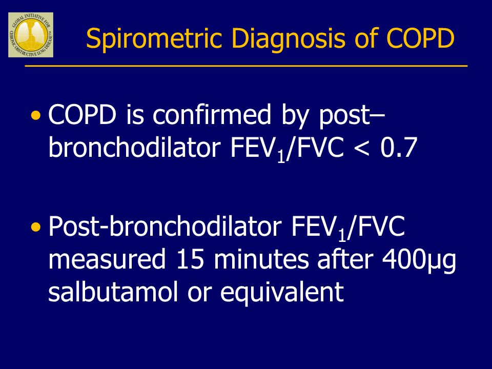 Spirometric Diagnosis of COPD