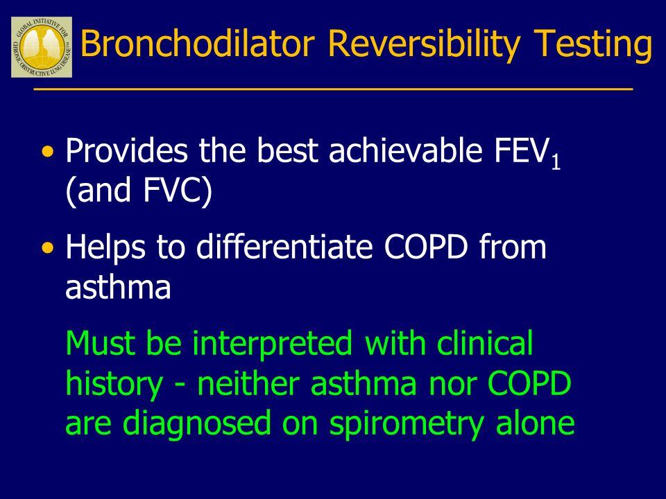 Bronchodilator Reversibility Testing