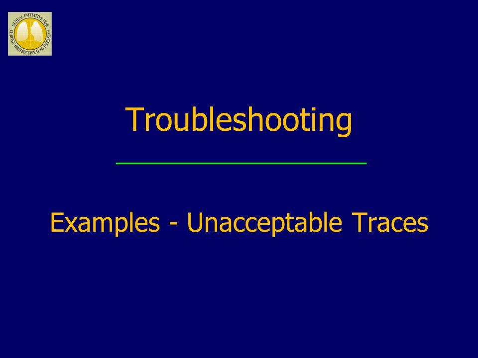 Examples - Unacceptable Traces