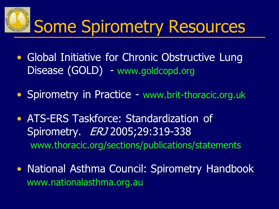 Some Spirometry Resources