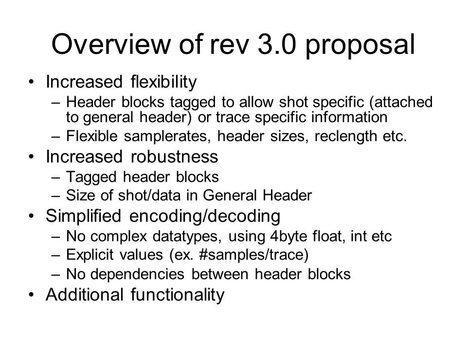 Overview of rev 3.0 proposal
