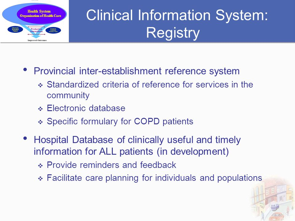Clinical Information System: Registry
