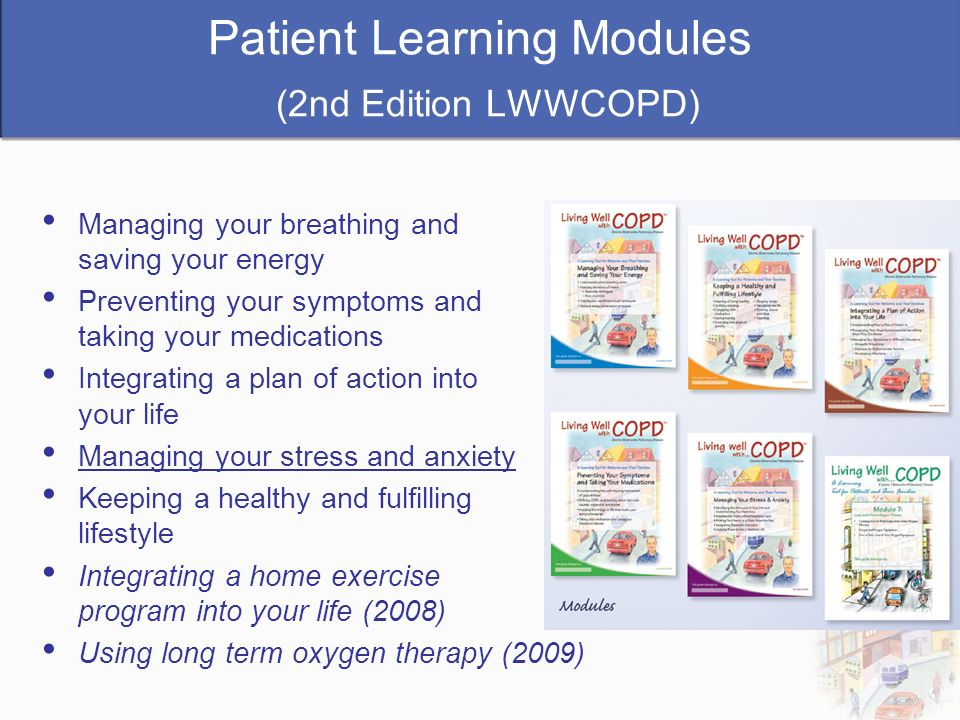 Patient Learning Modules (2nd Edition LWWCOPD)