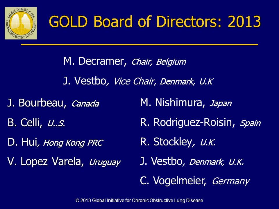 GOLD Board of Directors: 2013