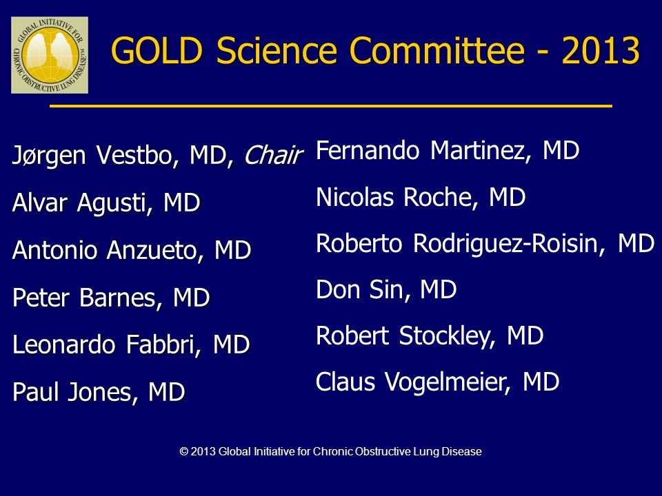 GOLD Science Committee - 2013