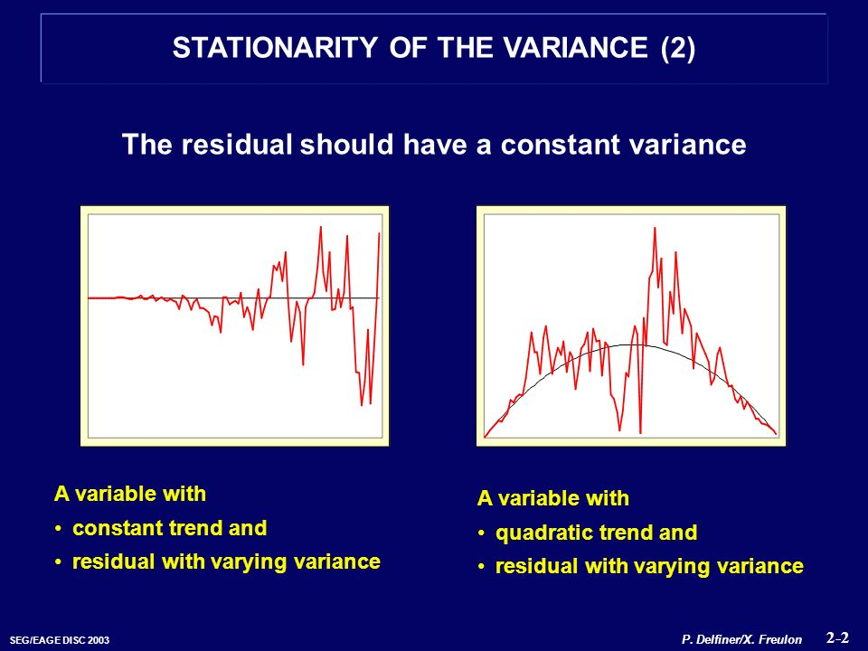 STATIONARITY OF THE VARIANCE (2)