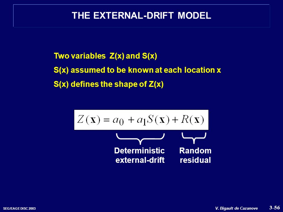 THE EXTERNAL-DRIFT MODEL Deterministic external-drift