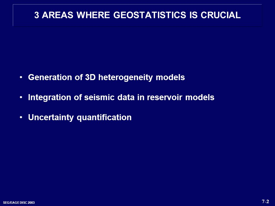 3 AREAS WHERE GEOSTATISTICS IS CRUCIAL