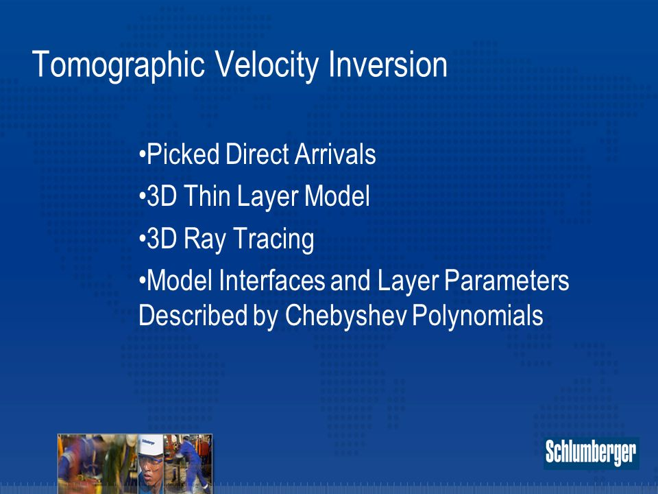 Tomographic Velocity Inversion