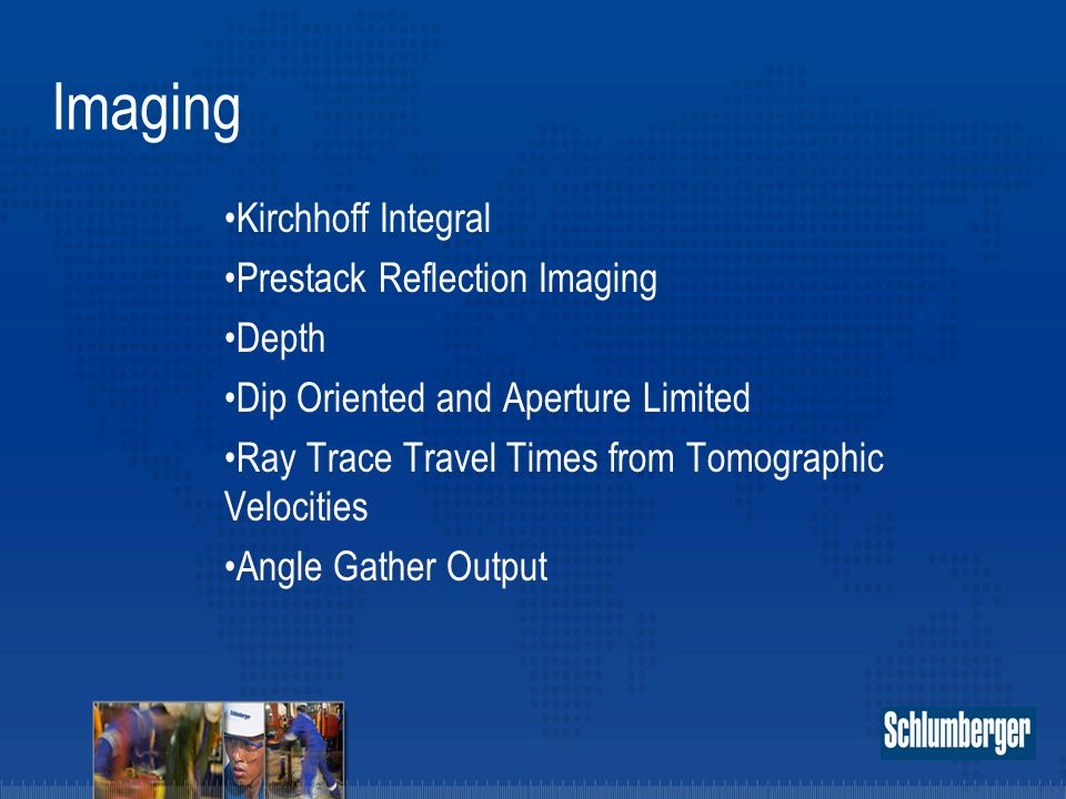 Imaging Kirchhoff Integral Prestack Reflection Imaging Depth