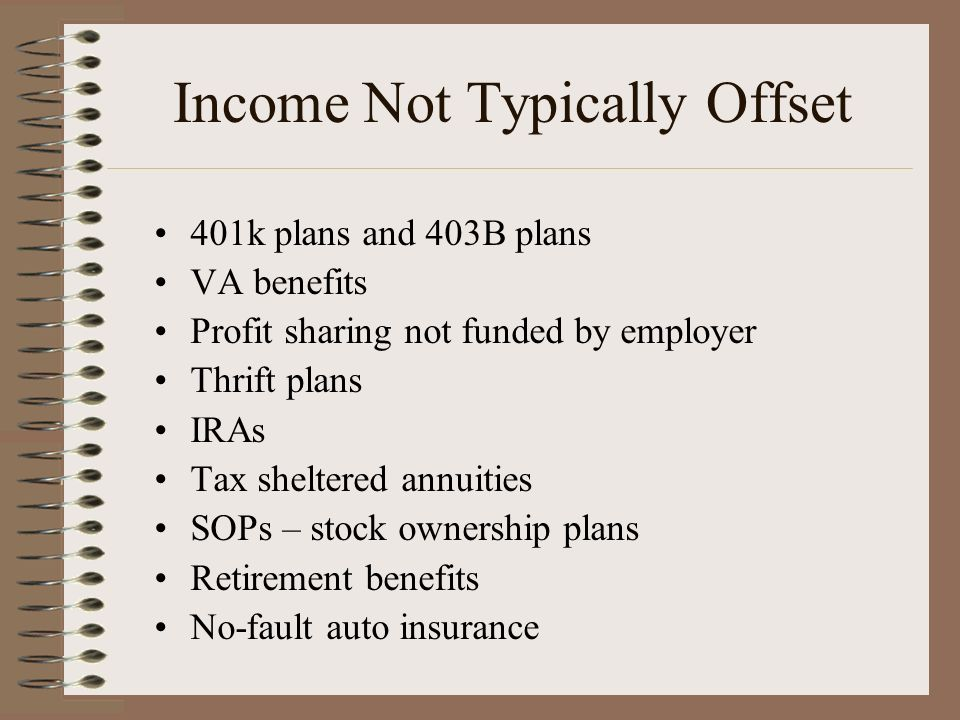 Income Not Typically Offset