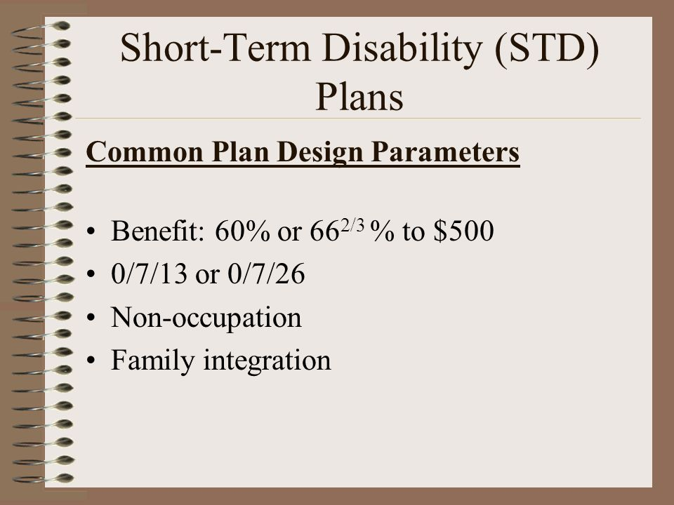 Short-Term Disability (STD) Plans