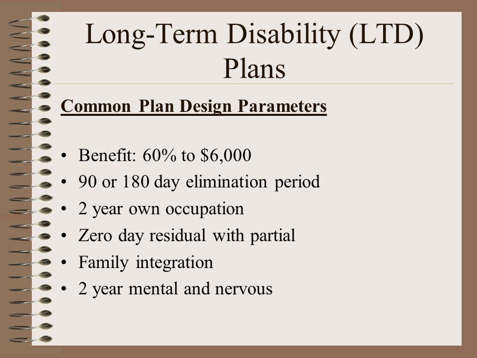 Long-Term Disability (LTD) Plans