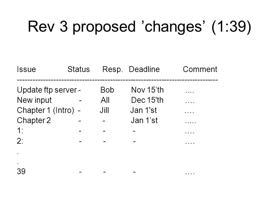 Rev 3 proposed 'changes' (1:39)