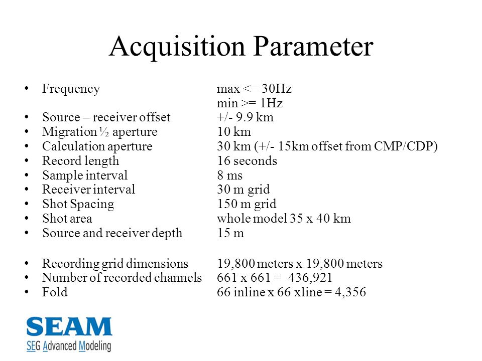 Acquisition Parameter