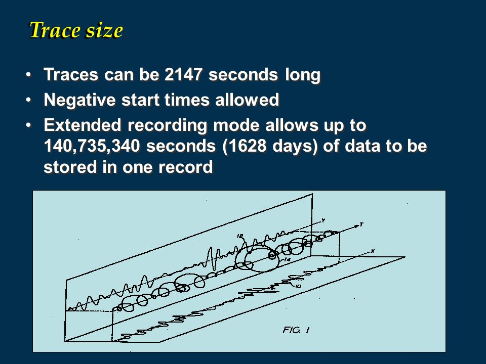 Trace size Traces can be 2147 seconds long