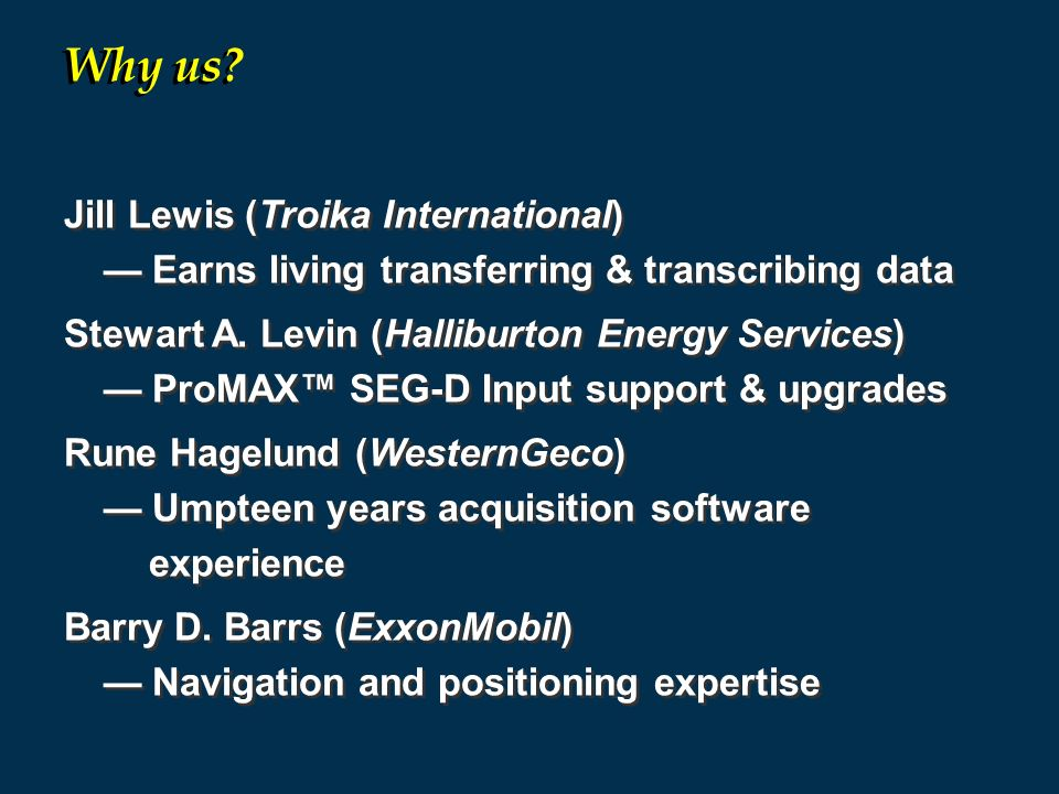 Why us Jill Lewis (Troika International)