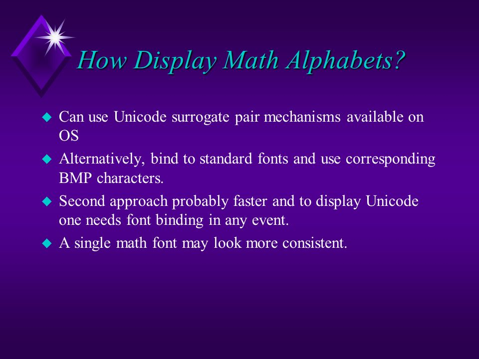 How Display Math Alphabets