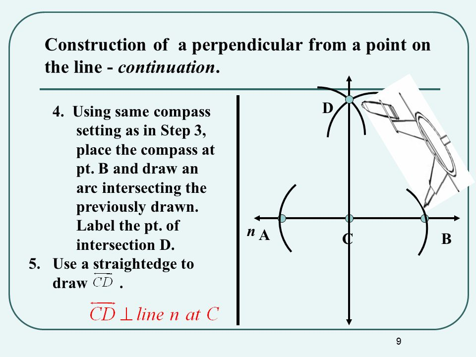 Civil D Draw Line Perpendicular : Constructions ppt video online download