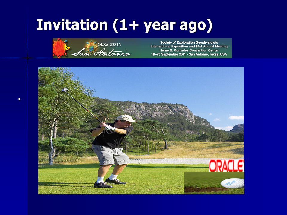 Invitation (1+ year ago)