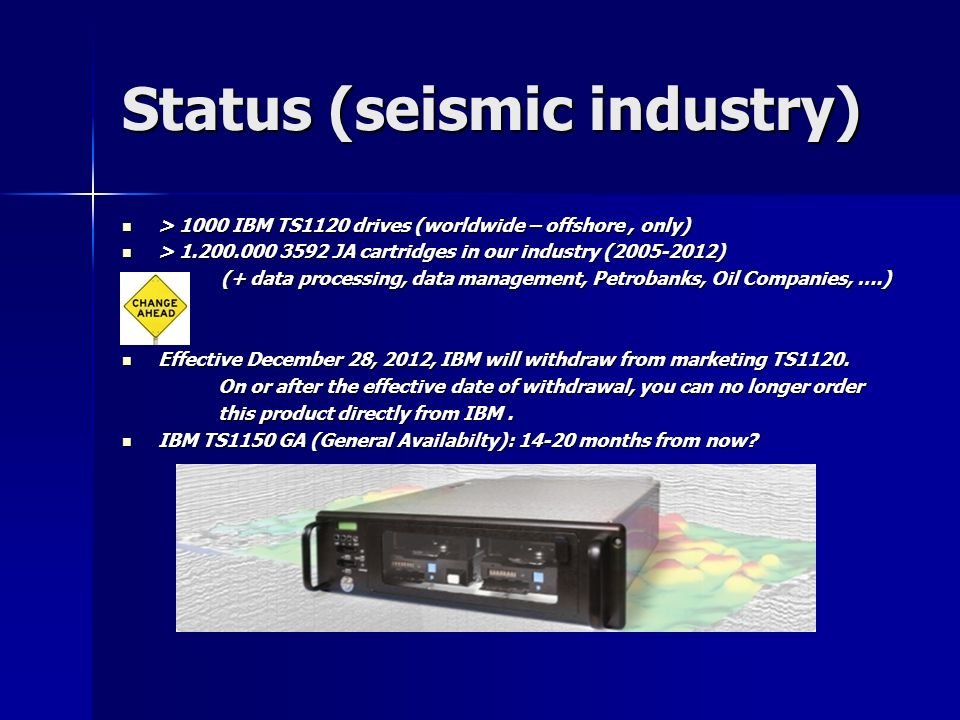 Status (seismic industry)