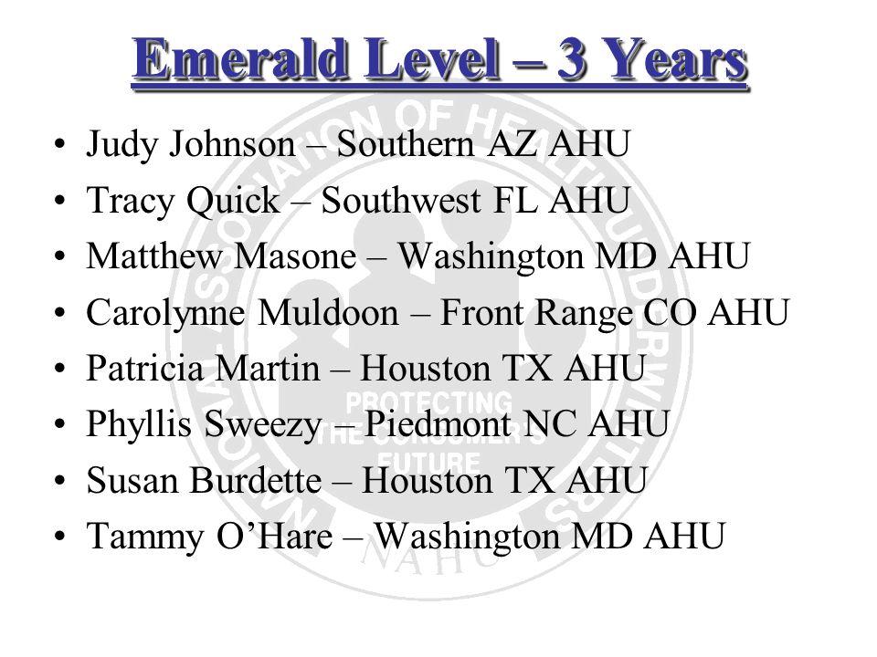 Emerald Level – 3 Years Judy Johnson – Southern AZ AHU