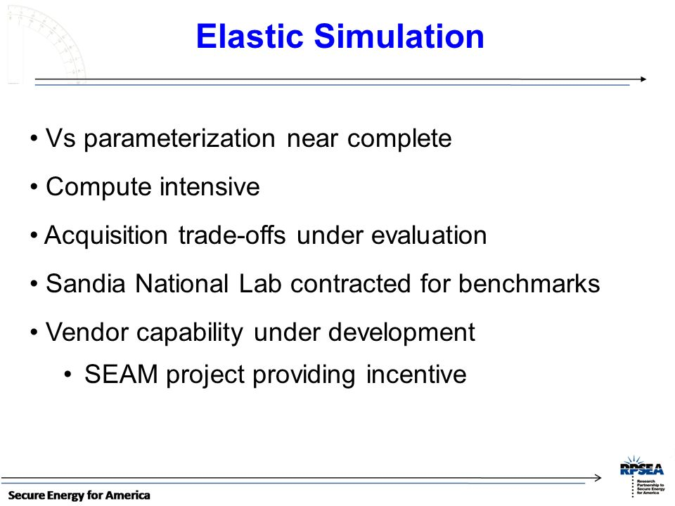 Elastic Simulation Vs parameterization near complete Compute intensive