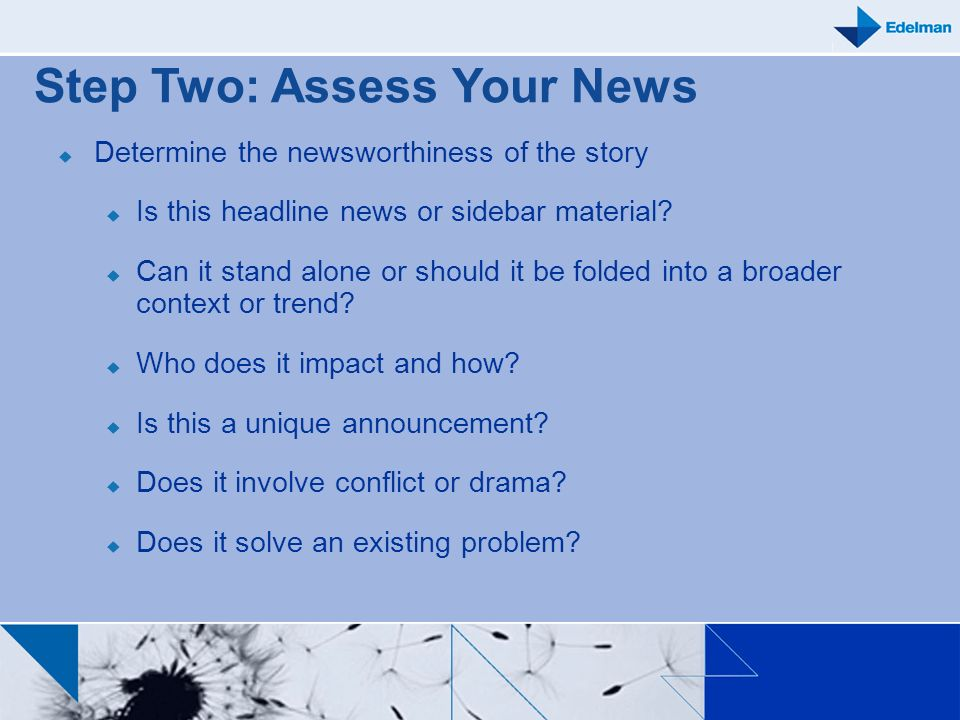 Step Two: Assess Your News