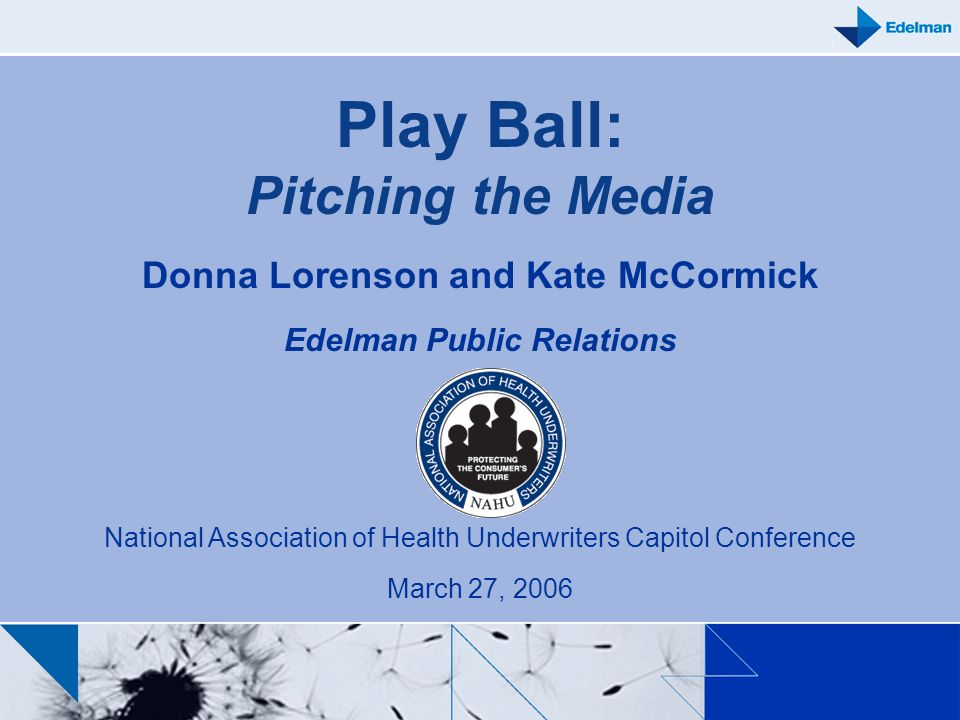 Play Ball: Pitching the Media