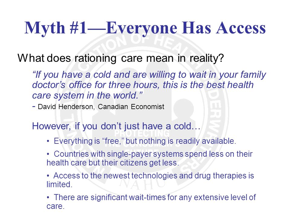 Myth #1—Everyone Has Access