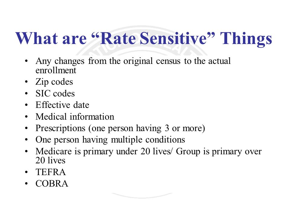 What are Rate Sensitive Things