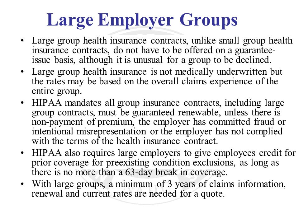 Large Employer Groups
