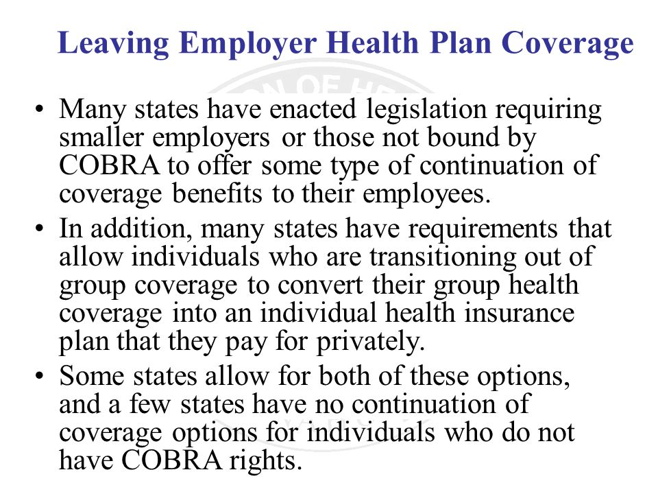 Leaving Employer Health Plan Coverage