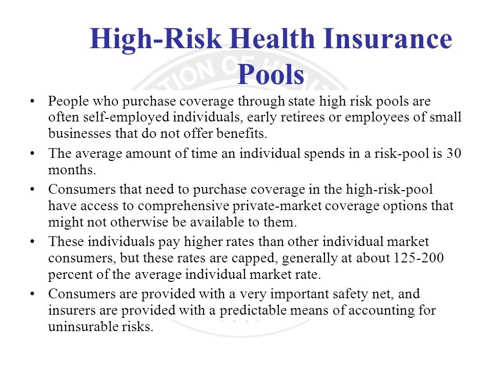 High-Risk Health Insurance Pools