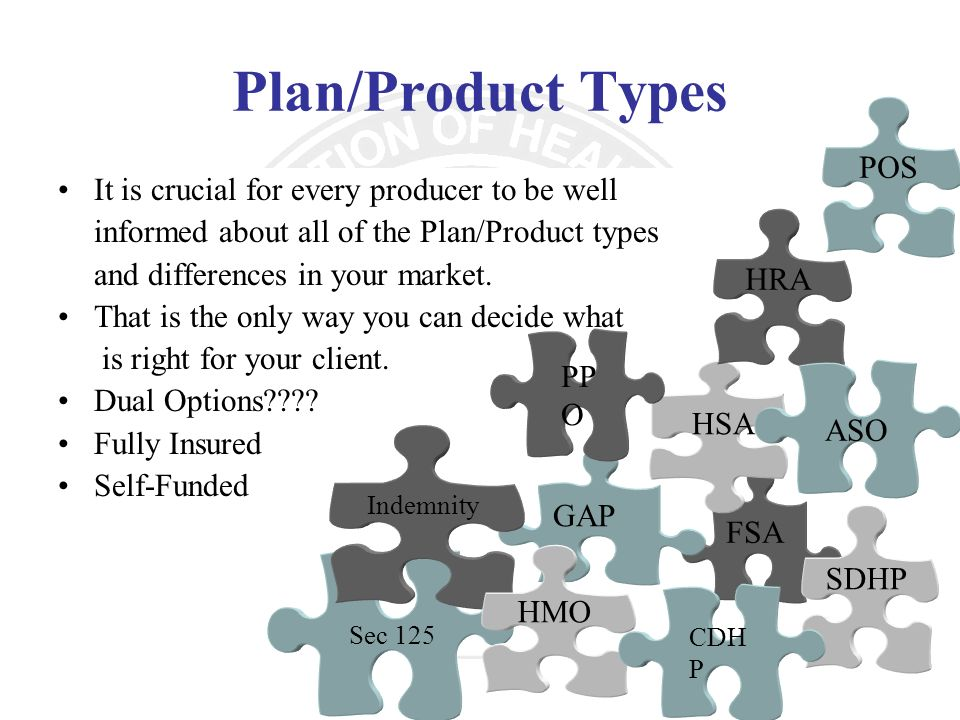 Plan/Product Types POS It is crucial for every producer to be well