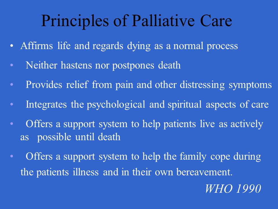 Principles of Palliative Care