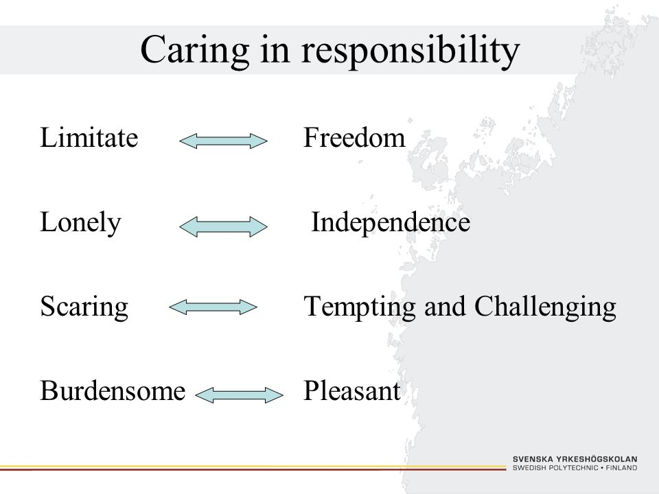 Caring in responsibility