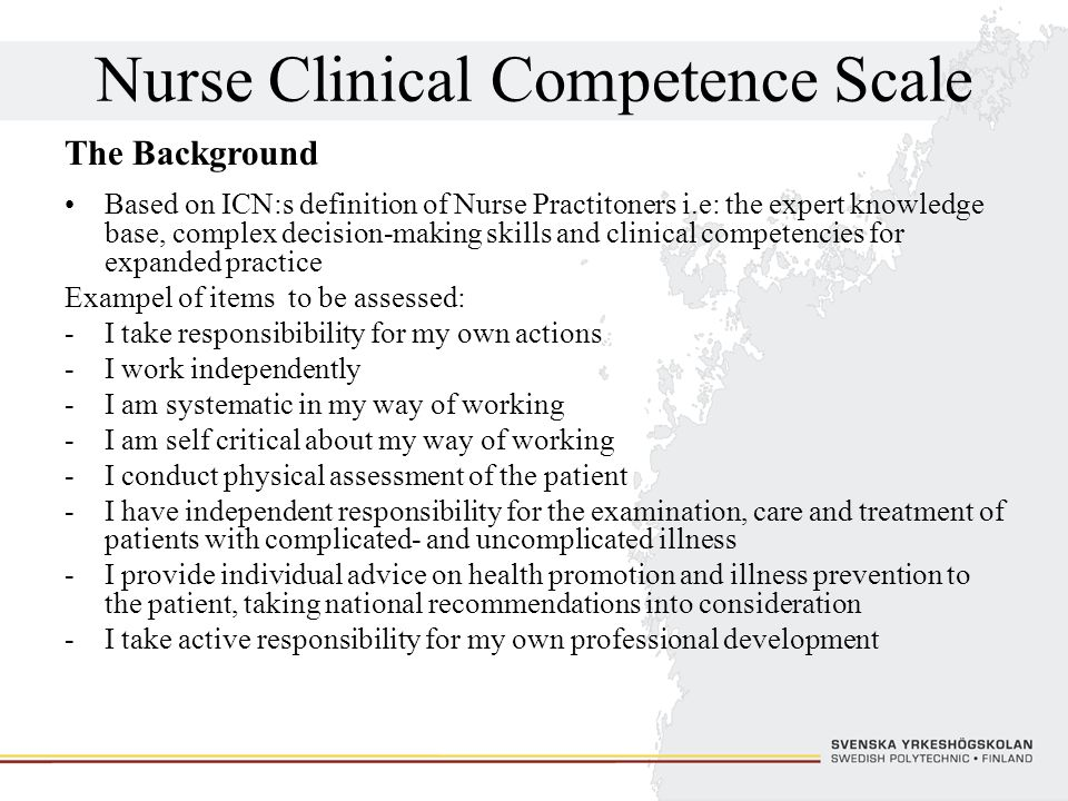 Nurse Clinical Competence Scale