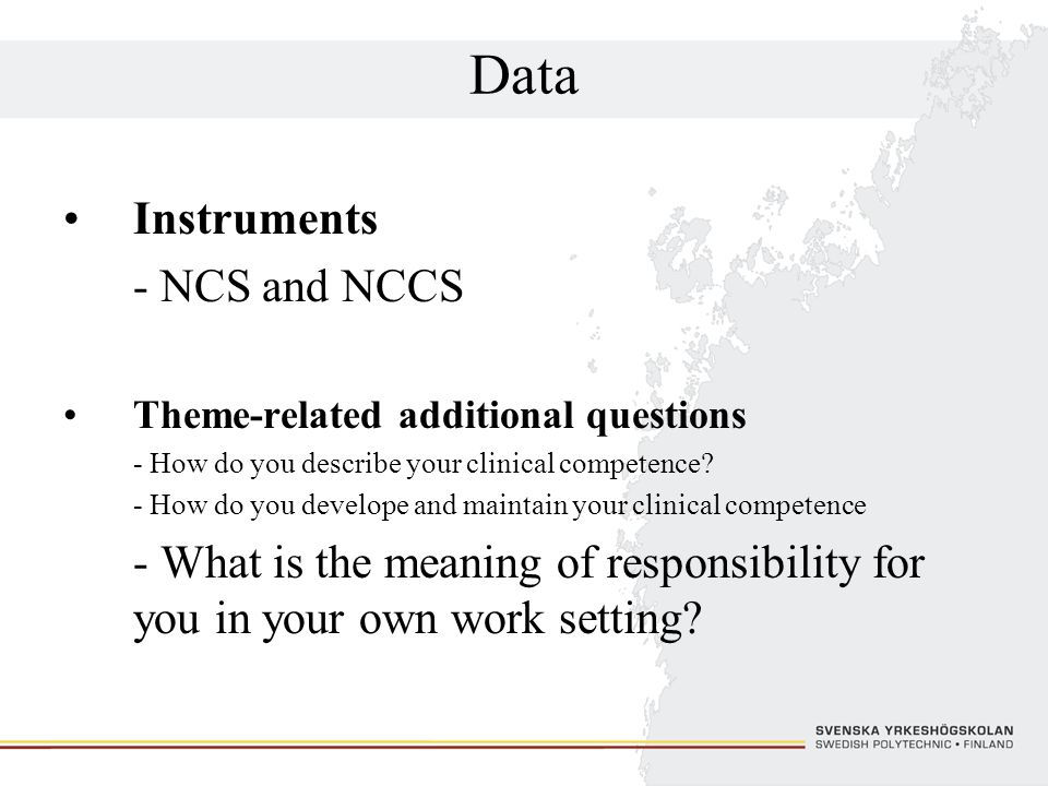 Data Instruments - NCS and NCCS