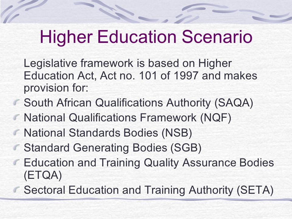 Higher Education Scenario