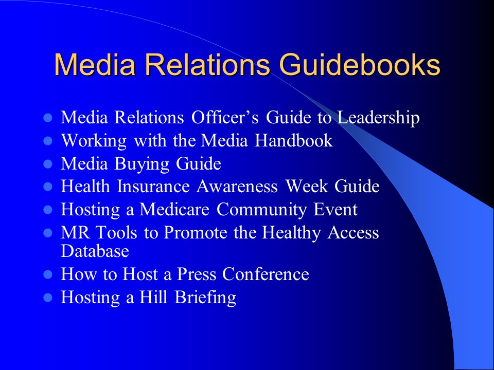 Media Relations Guidebooks