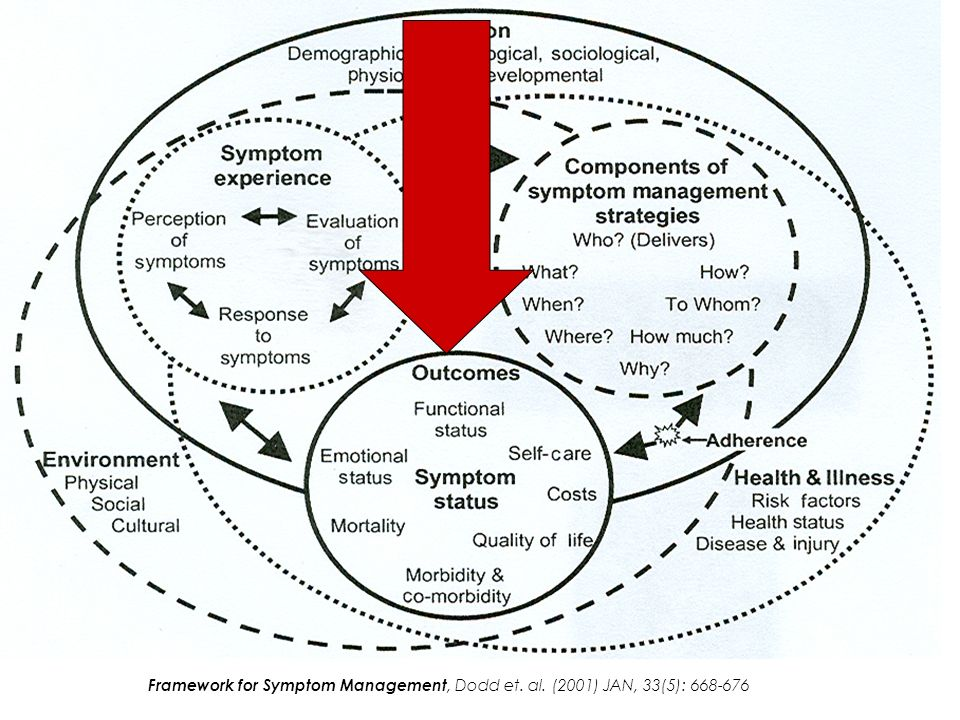 Framework for Symptom Management, Dodd et. al