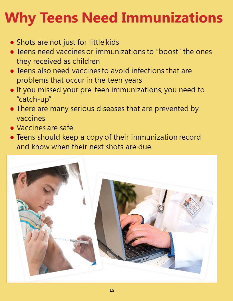 Why Teens Need Immunizations