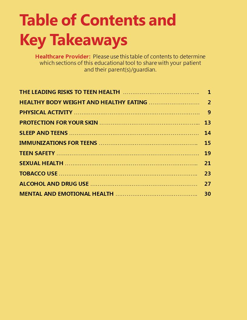 Table of Contents and Key Takeaways