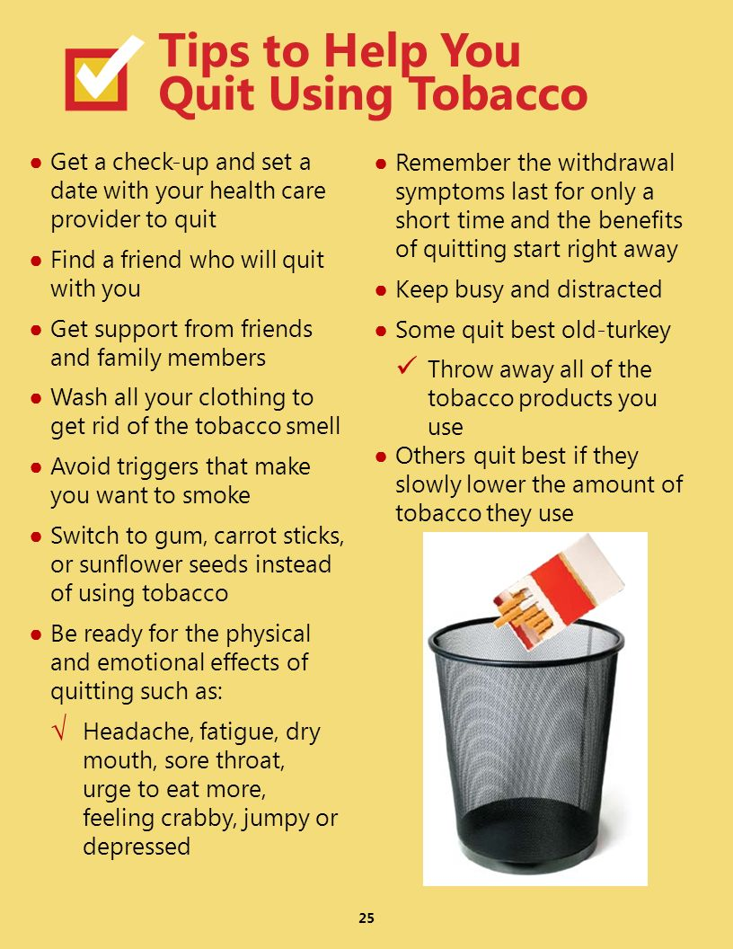 Tips to Help You Quit Using Tobacco