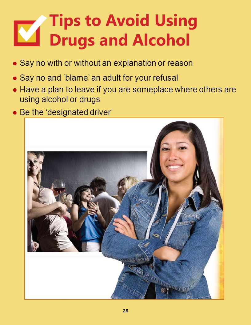 Tips to Avoid Using Drugs and Alcohol