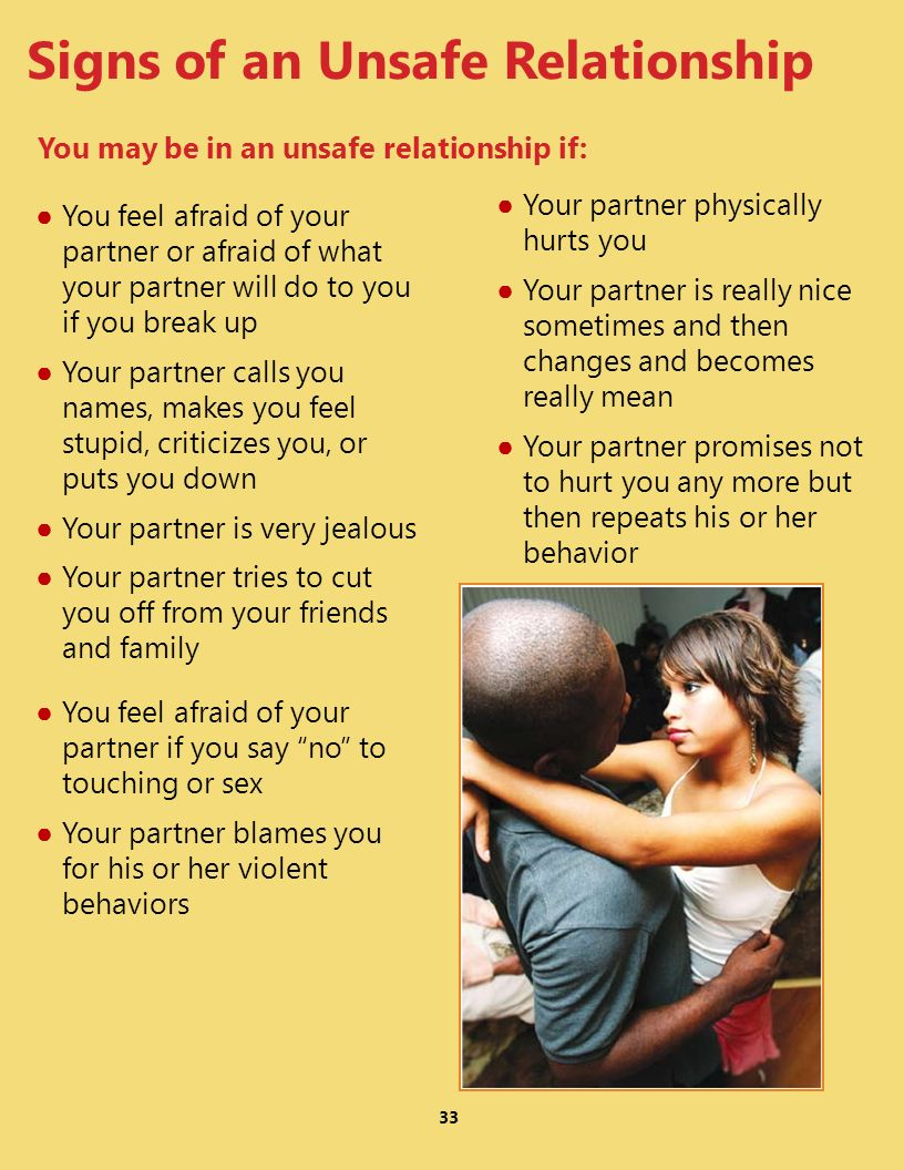 Signs of an Unsafe Relationship