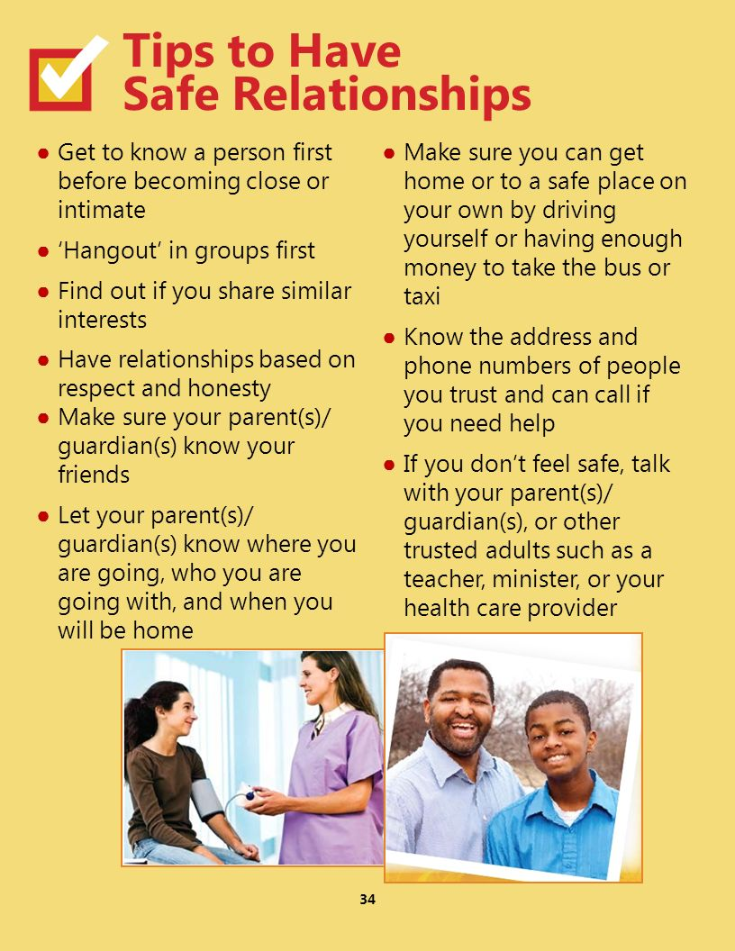 Tips to Have Safe Relationships