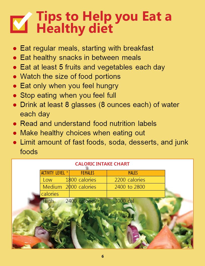 Tips to Help you Eat a Healthy diet