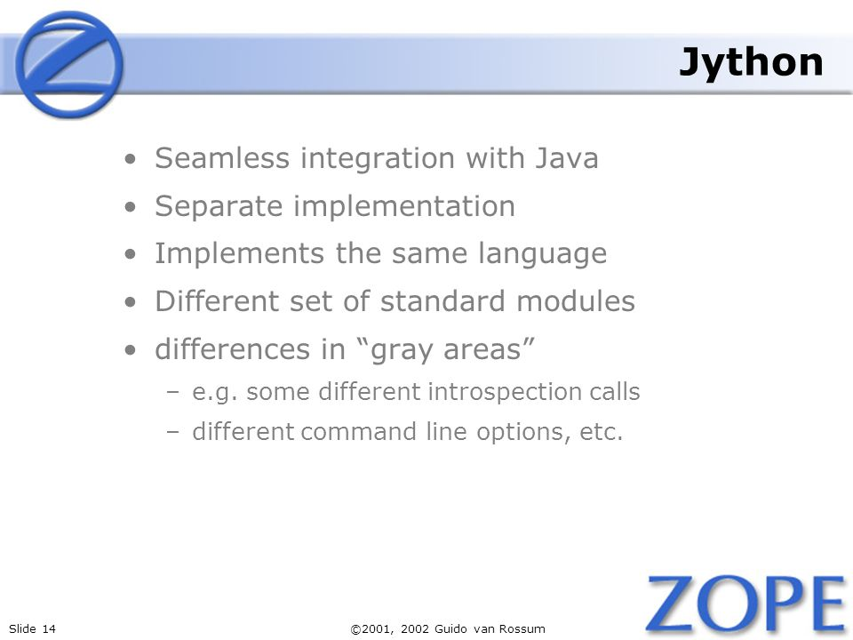 Jython Seamless integration with Java Separate implementation